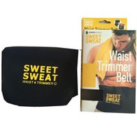 Wholesale belly trimmer belt resale online - 3 Colors Hot Selling Sweet Sweat Premium Waist Trimmer Men Women Belt Slimmer Exercise Ab Waist Wrap with retail Packaging