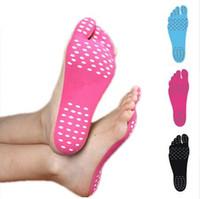 ingrosso adesivi per suole di scarpe-Hot Impermeabile Ipoallergenico Piedi Adesivi Piedino Adesivo Scarpe Bastone suole Sticky Pads Piedi Cura Piedi dropship