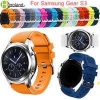 samsung-armband großhandel-Gear S3 Frontier / Classic Uhrenarmband 22mm Silikon Sport Ersatzuhr Herren Damen Armbanduhren Armband für Samsung Gear S3