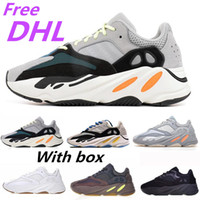 Wholesale canvas shoes dhl free resale online - Free DHL NEW Runner New Kanye West Mauve Wave Mens Women Athletic Best Quality s Sports Running Sneakers Designer Shoes