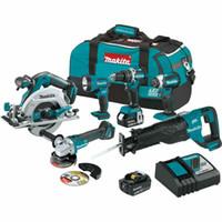 outils de travail en plastique achat en gros de-Ensemble d'outils sans fil Makita XT612M 18 volts, 6 outils, 4,0 Ah, au lithium-ion sans fil