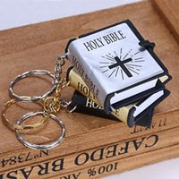 3 Colors Mini Holy Bible Keychains Fun English Book Keychain Religious  Christian Jesus Cross Keyrings Women Gift Souvenirs Free DHL M179F 59720ee9fcd2