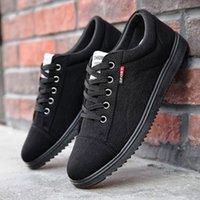 marka tuval dantel ayakkabıları toptan satış-Marka Erkek Günlük Ayakkabılar Nefes Lace Up Yürüyüş Ayakkabı tenis masculino adulto Hafif Rahat Tuval Erkekler Sneakers Ayakkabı