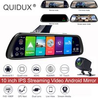 rétroviseur dvr bluetooth achat en gros de-4G Touch IPS Universal Bundled Voiture Dash Cam Vue Arrière Rétroviseur Avec GPS Navi Bluetooth Musique WiFi Android 8.1 DVR voiture dvr