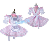 Wholesale seen tv saw online – design Sissy maid Organza Satin dress see through Outfit Tailor made