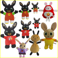 Wholesale black white figures for sale - Group buy Genuine Bing Bunny Plush toy CM sula flop Hoppity Voosh pando bing coco Stuffed Animals peluche toys birthday Christmas gifts