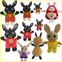 ingrosso giocattoli genuini-Genuino Bing Bunny peluche 15-35 cm sula flop Hoppity Voosh pando bing coco Peluche giocattoli compleanno regali di natale