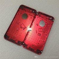 cor da carcaça traseira venda por atacado-De alta qualidade novo metal bateria tampa traseira habitação para iphone 6 6s plus cor vermelha