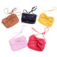 мини-кошельки для девочек оптовых-1pc Mini Bowknot Shoulder Bag Key Coin Purse Lovely Bag Little Girl's Present New Arriva