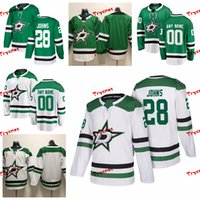 camisa verde de john venda por atacado-2019 Dallas Stars Personalizar Stephen Johns Estrelas costurado camisas personalizadas Home Green Shirts # 28 de Stephen Johns Hockey Jerseys S-XXXL
