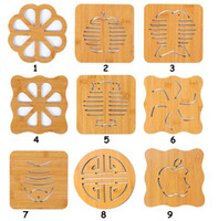 holztisch matten untersetzer großhandel-Holz Cartoon Isolierung Pad Tisch Pad rutschfeste Topf Pad Cup Matten Coaster Tee Schüssel Mat