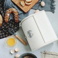 pãezinhos venda por atacado-Rolo Europeu Top Pequeno Metal Flip-baked Desktop Acabamento Lanche À Prova de Pó Caixa De Armazenamento De Lata De Pão De Cozinha De Alimentos Titular J190713