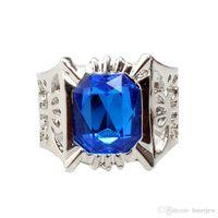 taş kümesi toptan satış-Alyans Küme Yüzük Moda Takı Marka Gümüş Kristal Taş Yüzük