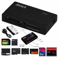 mmc cf sd reader venda por atacado-Tudo Em Um Mini Leitor De Cartão De Memória USB 2.0 Multi In 1 Universal Externo SD SDHC Mini Micro M2 MMC XD CF MS Livre DHL