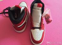 moda unissex mulheres tênis venda por atacado-1 Sapatos de Basquete Mens Sneakers mulheres sapatos de grife unisex Chicago MID OG VERMELHO Formadores de alta qualidade Sapatas Do Esporte dos EUA 5.5-12
