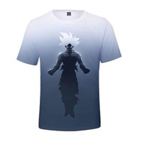 nueva dragon ball z al por mayor-Nueva llegada Cool Goku Dragon Ball Z camiseta 3d Hipster de verano Camiseta de manga corta Tops Hombre / Mujer Anime DBZ Harajuk Camisetas Homme