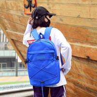 nuevas bolsas de hombro amarillo al por mayor-Diseñador: las mochilas más nuevas de la marca Carta de la marca Bolso de hombro doble Negro Rojo Azul Amarillo Bolsas de viaje Mochilas Clásico de alta calidad