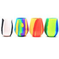 copas de silicona para ventosas. al por mayor-2019 Nuevo Camuflaje Tazas de Copa de Vino Tinto de Silicona 12 oz Cerveza Plegable Sin Tazas de Silicona Taza de Café Drinkware