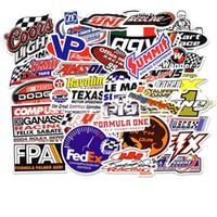 motosiklet yarış çocukları toptan satış-50 adet DIY Sticker Lot Rastgele Araba Kart Yarışı Posterler Graffiti Kaykay Snowboard Dizüstü Bagaj Motosiklet Bisiklet Ev Ç ...