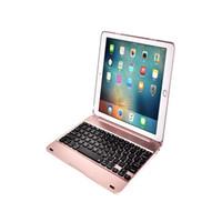 bluetooth inalámbrico de aluminio ipad al por mayor-Fundas de aleación de aluminio de lujo oro plata bluetooth teclado inalámbrico caso para ipad pro 9.7 nuevo 2018 iPad Air 2