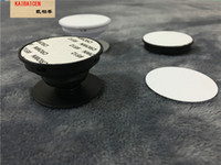 impresora de aluminio al por mayor-Soporte para dedo universal para teléfono celular Placa de inserción de sublimación de aluminio en blanco Soporte para teléfono Impresora UV Soporte de montaje en blanco Soporte de agarre