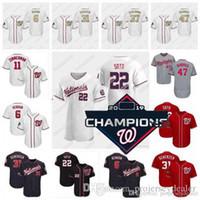 Wholesale baseball jerseys for sale - Group buy 2020 Season Juan Soto Nationals Champions Jersey Howie Kendrick Max Scherzer Victor Robles Ryan Zimmerman Stephen Strasburg Turner