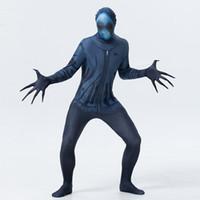 ingrosso pelle cosplay-Mens X-Ray Costume Tuta Seconda Pelle Spaventoso Adulto zentai Cosplay Halloween Fancy Dress Party Outfit Tema Costume X8517 SMLXLXXL