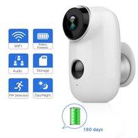 haus-videokameras großhandel-Outdoor-Überwachungskamera Wireless wiederaufladbare batteriebetriebene Überwachungssystem WIFI IP HD CCTV Video House Monitor
