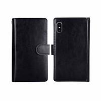 сумка 2in1 оптовых-Роскошный кошелек для iPhone XS Max PU кожаный чехол для iphone 6 6s 7 8 Plus 2in1 магнитные съемные сумки для телефонов 9 слотов для карт