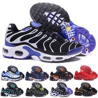 Wholesale snow boot design for sale - Group buy 2019 New Design Top Quality TN Mens shOes Breathable Mesh Chaussures Homme Tn REqUin Noir Casual Running ShOes Size A04