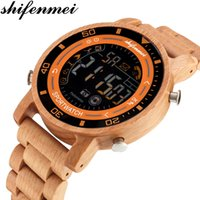 Wholesale holiday watches resale online - 2019 Shifenmei New Men s Women s Sports Watch Recordable Steps Wooden Sports Watch Couple Gifts Holiday Gifts ludis vigilate