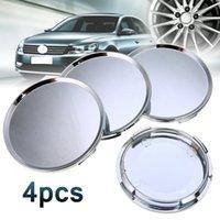 cubo de roda universal venda por atacado-4pcs 60mm Car Wheel Center Hub Cover Cap Decor Plástico ABS Prata Universal Lot