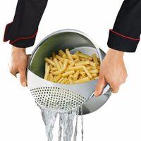 sebze kapları toptan satış-Yeni Paslanmaz Çelik Pan Pot Süzgeç Makarna Süzgeç Mutfak Süzgeçler ve Kevgir Süzgeç Spagetti Sebze Y18110204 Kolay Tahliye