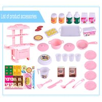 Wholesale baby cook set toy resale online - Hot Sale Kids Kitchen Toys Pretend Play Cooking Toys Tableware Sets Baby Toddlers Kitchen Simulation