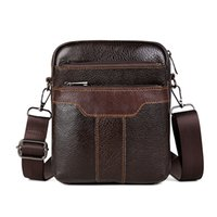 Wholesale multifunction leather shoulder bag resale online - HUANILAI Men s Bag Genuine Leather Shoulder Bags Cowhide Messenger Bags Crossbody Retro Multifunction Handbags TY002
