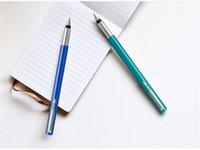 Wholesale best art pens online - 2019 best luxury pens Parker Pen Vinya Rubber Pole Blue green Ink Pen Adult Writing Pen for Men and Women