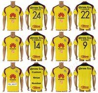 méxico futebol jersey tailândia venda por atacado-2018 Clube América Soccer Jersey 18-19 Tailândia 9 Raul Jimenez 14 Rubens Sambueza 24 PERALTA Camisa de Futebol Kit Liga MX México Personalizado