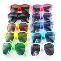 Wholesale nails girls resale online - 10 styles Retro Square color children s nail sun glasses trend boys and girls rice nail sunglasses sunglasses M053