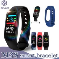Wholesale waterproof watch camera for sale - Fitness Smart Bracelet for Xiaomi Fitness Tracker M3S Smart Watch with Heart Rate Watches for Apple Fitbit Android Cellphones in Retail Box