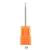 limas de piedra al por mayor-1 UNID Nail File Drill Bit Tools Para Nail Art Machine Grinding Stone Head esmalte de uñas profesional