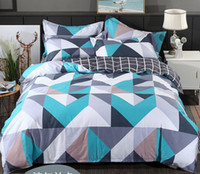 Wholesale chinese bedding set king resale online - Cotton Modern Geometric Bedding Set S Home Sateen Cotton TC Duvet Cover Pillow Cover Bed Set Queen King