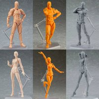 Wholesale human model art resale online - Drawing Figures For Artists Action Figure Model Human Mannequin Man Woman Kits Mannequin Art Sketch Draw Human Body Dolls