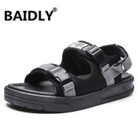 Wholesale mens gray flip flops resale online - Sandals Men Shoes Gladiator Mens Sandals Fashion Men Summer Shoes Flip Flops Gray Black Flat Big Size