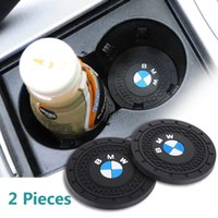 Wholesale travel accessories resale online - 2 Inch Diameter Oval Tough Car Logo Vehicle Travel Auto Cup Holder Insert Coaster Fit BMW X6 i xi M3 M4 Interior Accessories