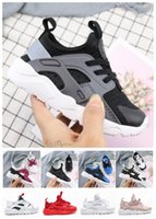 Wholesale spring autumn children casual shoes resale online - Child New Kids Huarache Running Shoes Children Designer Hurache Casual Trainers Breathable Classical Sneakers Infant Baby Size