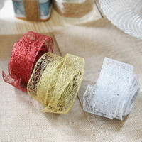 Wholesale colored ornaments for sale - Group buy 1pcColorful Ribbon Lace Christmas Xmas Tree Decor Wedding Party Ornament Christmas Colored Ribbon Hanging Decors Ornament