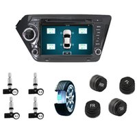 nissan dvd navigation großhandel-Auto TPMS Reifenscan-Tool für Android GPS-Navigation DVD-Radio-Player Media Player TPMS Reifendruckkontrollsystem 4 Sensor