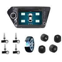 ingrosso radio di dvd del bluetooth-Strumento di scansione pneumatici TPMS per navigazione GPS Android Lettore di radio lettore DVD Sistema di monitoraggio pressione pneumatici TPMS 4 Sensore