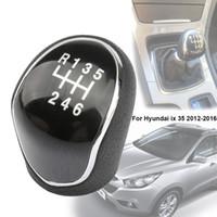 6 Speed Car Gear Knob Manual Gear Shifter Knob Lever Stick Head Handball For Hyundai IX35 ix 35 2012-2016
