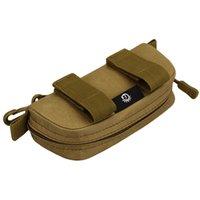 bolsos de embrague de camuflaje al por mayor-Lluvia de la bolsa de embrague recorrido del monedero de la cremallera Llevar los vidrios caja bolso al aire libre de la bolsa portátil ligero de camuflaje paquete de cinturón